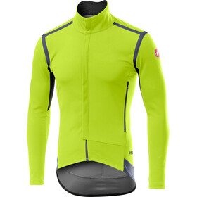 Castelli Perfetto Rain Or Shine Jas lange Mouwen Heren, yellow fluo
